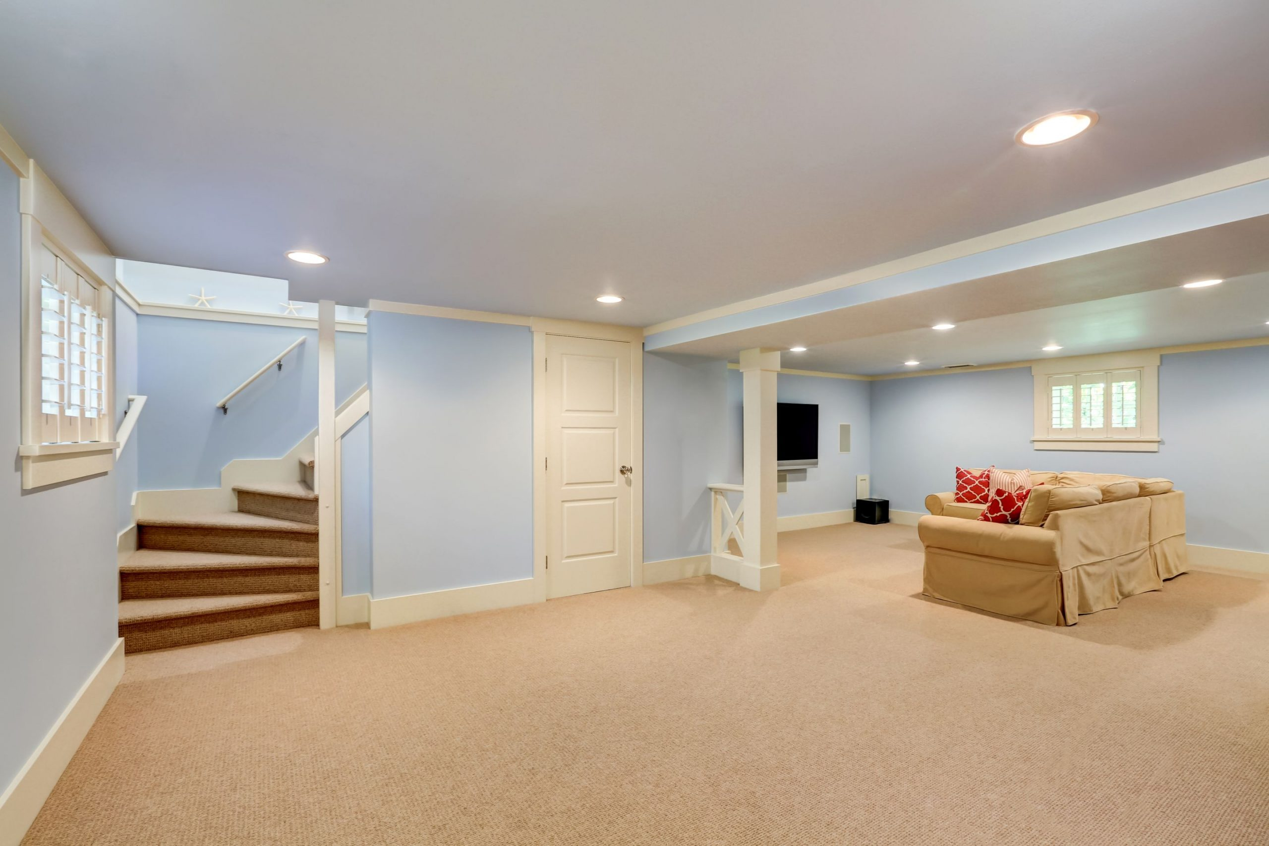 basement with good finishing